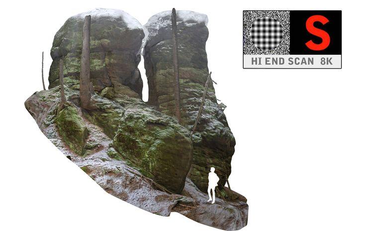 3d model of stone boulders scanned