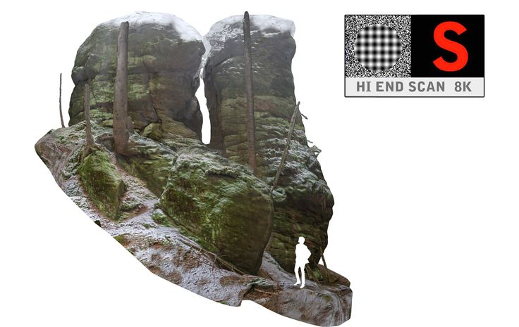 3d model of stone boulders scanned