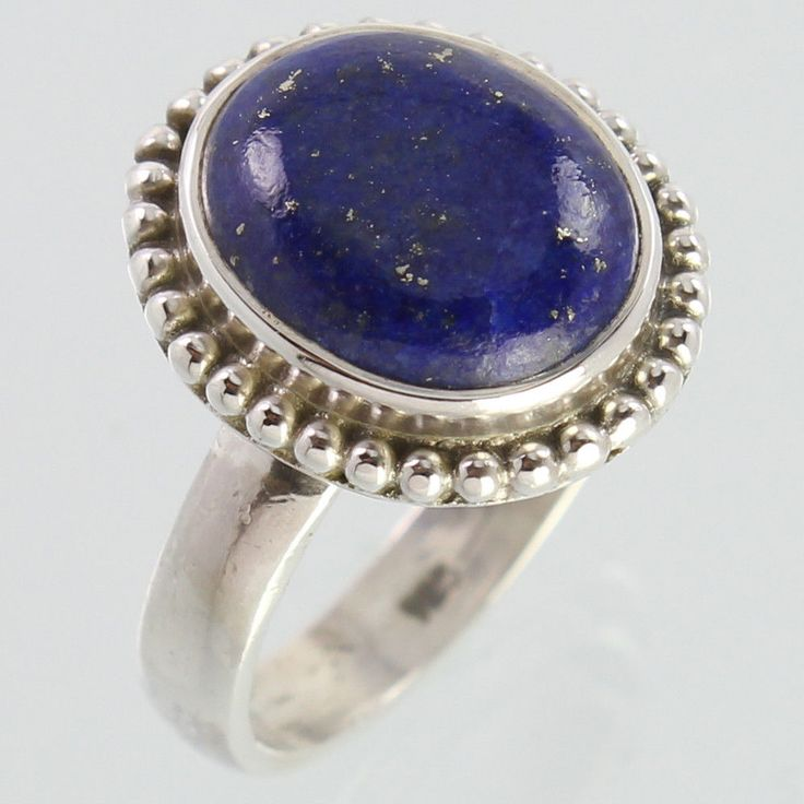 Beautiful Ring Size US 6.75 Natural LAPIS LAZULI Gems 925 Solid Sterling Silver #Unbranded