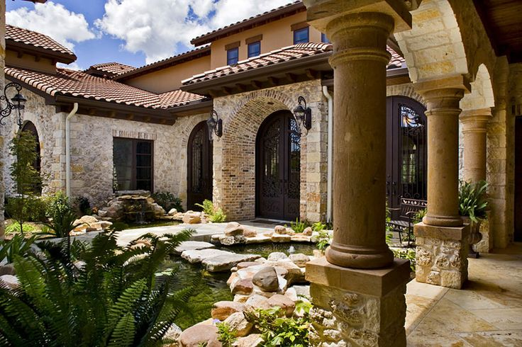 Stone With Brick Accents