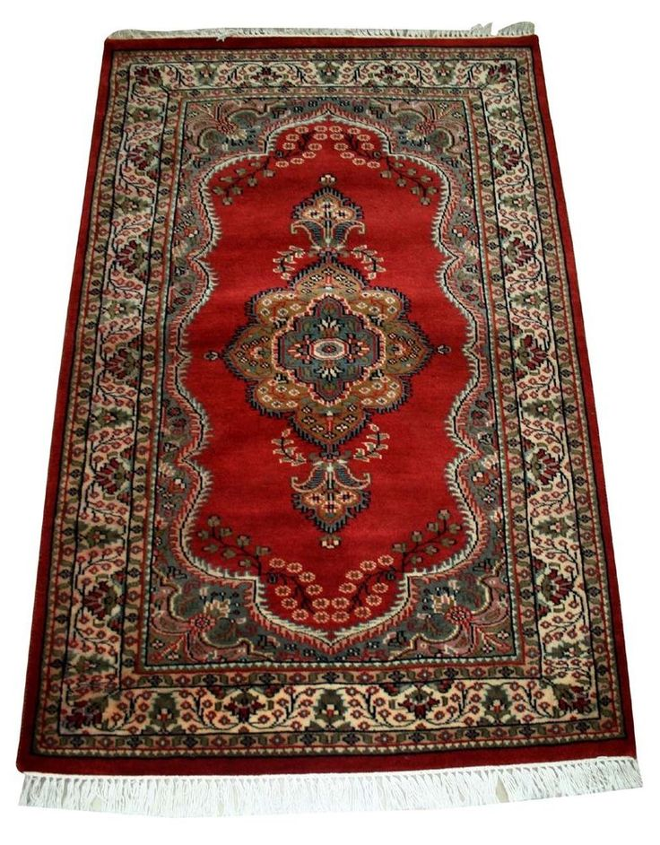 "VINTAGE RARE CASHMERE PERSIAN STYLE 36""x60"" ANTIQUE 100% Wool Carpet,RUGS EDH #Indian"