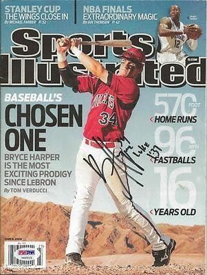 Bryce Harper Signed Sports Illustrated Cover Magazine Full Signature 1 - PSA/DNA Certified - Autographed MLB Magazines * Visit the image link more details.