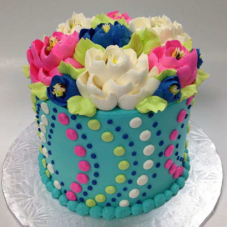 Kelly-Dots Buttercream Birthday Cake