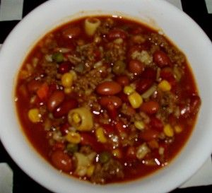 Veggie Ground Beef Soup