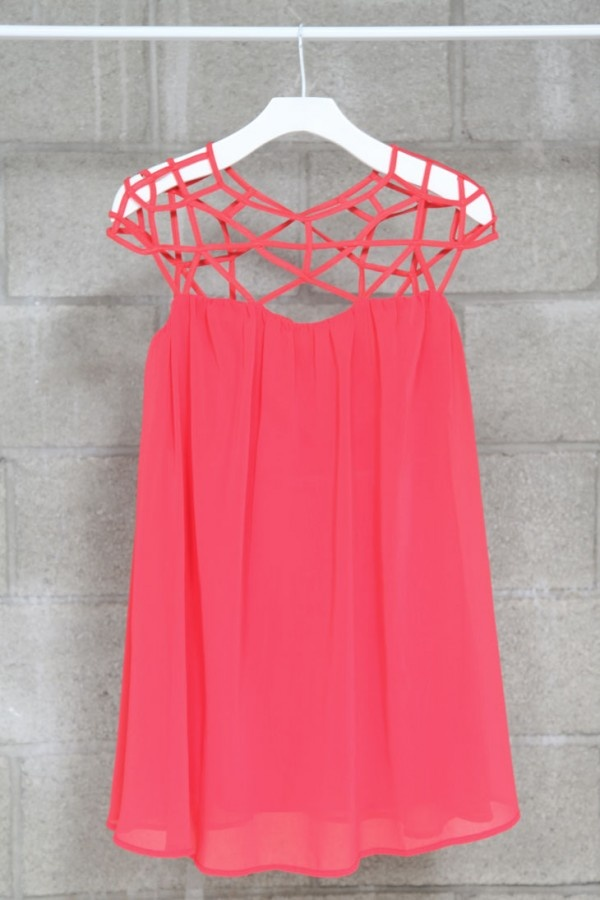 : Style, Spiderweb Top, Coral Spiderweb, Cage Top, Shoulder Top, Chiffon Dresses, Cute Summer Tops