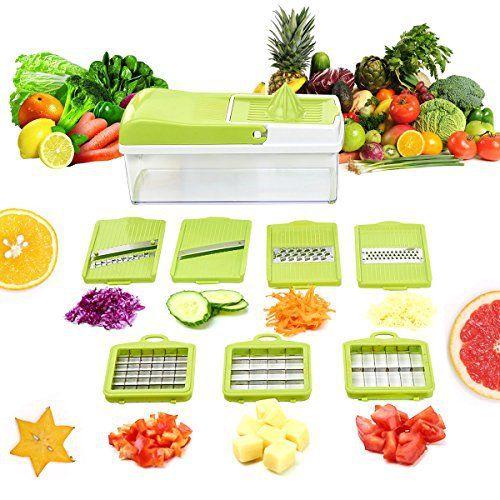 Black Friday Sale - Mandoline 9-en-1 Multifonction Professionnelle Couper les Legumes Fruit Ustensiles de Cuisine Broyeur Polyvalente…