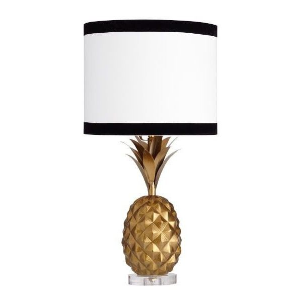 pb teen emily u0026 meritt pineapple table lamp gold 149 liked on - Lamp Shades For Table Lamps