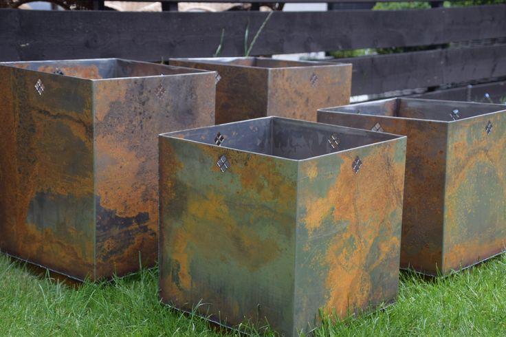 Corten steel undergoes a fantastic change of colour.