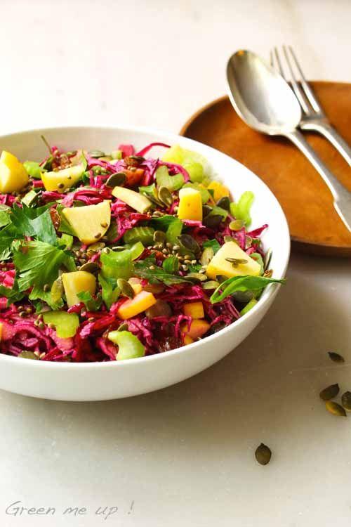 Petite salade d'hiver pleine de supers nutriments !