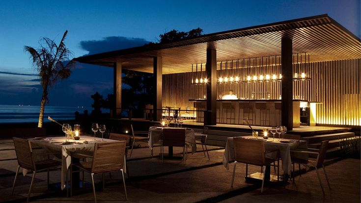 Listen to the sound of the ocean to add romantic ambience for dinner at our Ombak restaurant. #restaurant #Bali #villa #ocean #outdoor