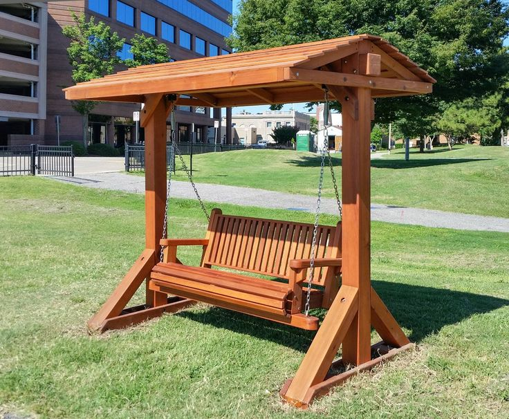 Bench Swing Set Options Large Bench With Swing Roof