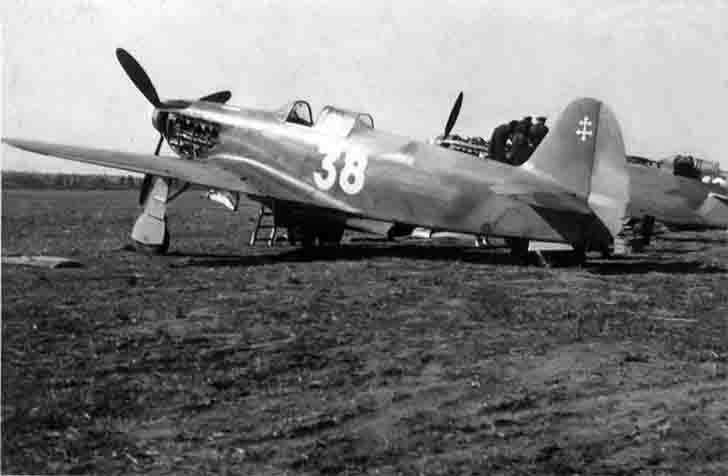 Yak-3 fighters of Normandie-Niemen in France after defeat of Nazi Germany and end of World War II in Europe (planes still painted with Soviet insignia, and through the paint emerges a star right of the number 38).    After the war, 41 Yak-3s, which had been flown by French pilots of the Normandie-Niemen regiment, were donated to France.  June 20, 1945 French pilots on Yak-3 fighters returned to their homeland. Yak-3 fighter standing on French armament until 1956.