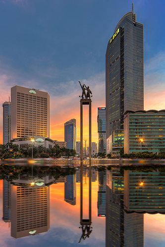 Jakarta Sunset - Sudirman | Flickr - Photo Sharing!