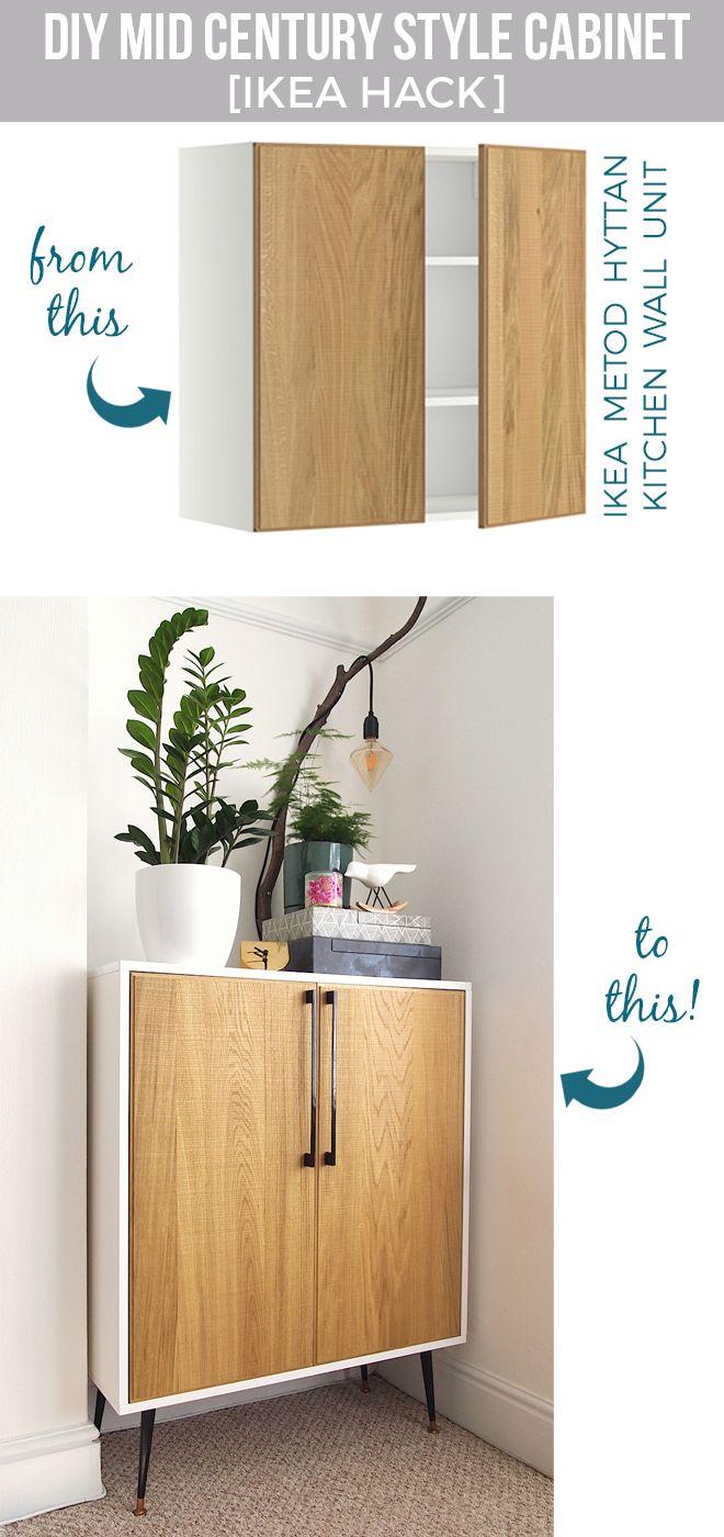 DIY : fabriquer un meuble cabinet de style avec un placard de cuisine - Floriane…