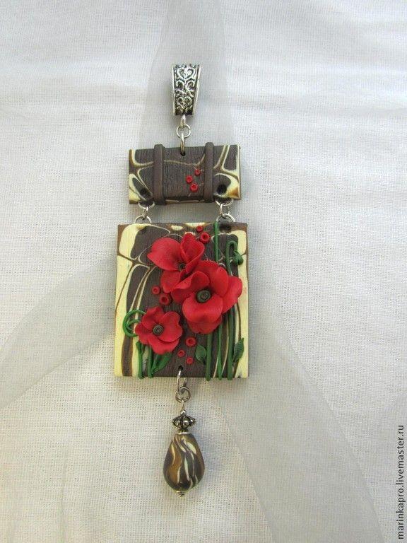 Купить или заказать Комплект украшений, кулон, серьги и браслет  'Ночной…