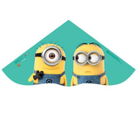 Minions Kite. Custom printed kites have been available for a long time. Now you can create custom shaped kites that will really push your promotion to new heights. All kites are designed and tested in the USA.