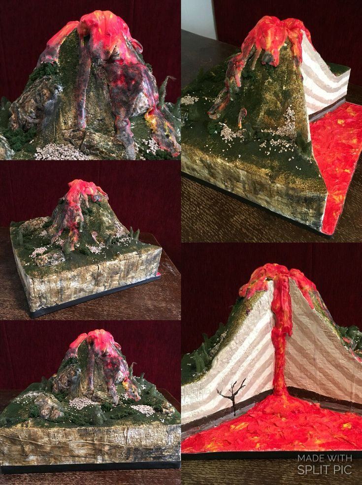"""volcano model Product description kids will be excited to learn about earth science with this  erupting volcano - complete with an easy to make lava recipe a 13"""" clear plastic ."""