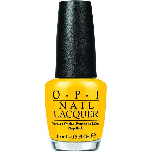OPI Peanuts Collection Good Grief Nail Polish (SRFA4) ($5.89) ❤ liked on Polyvore featuring beauty products, nail care, nail polish, nails, makeup, beauty, accessories, yellow, opi nail polish and gel nail polish