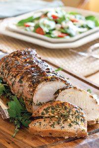 Herb-Stuffed Pork Loin Roast