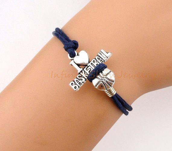 Bracelet+Basketball+Bracelet+I+Love+by+InfinityShowJewelry+on+Etsy,+$1.89