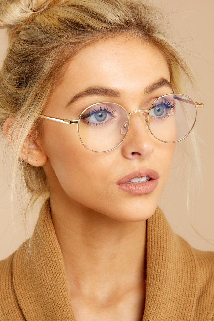 Rumours Blue Light Glasses In Champagne – beauty