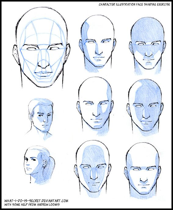 Face shading, basic planes by what-i-do-is-secret on deviantART