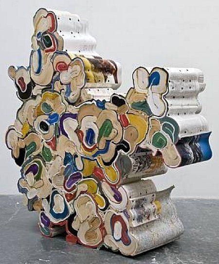 Reuse of Books = Art    Jonathan Callen - The theoretical assumptions of management, 2008.  Bio:  www.artnet.com  Kudlek van der Grinten Galerie