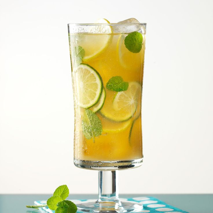 Summertime Tea Recipe -You can't have a summer gathering around here without this sweet tea to cool you down. It's wonderful for sipping while basking by the pool.—Angela Lively, Baxter, Tennessee