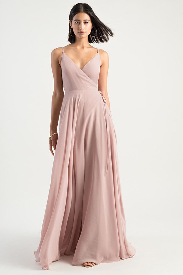 bde5279234 Love a good wrap dress! The James dress by Jenny Yoo 2019 Bridesmaids is a  simple & effortless wrap dress with a spaghetti strap V neckline & an A  line ...