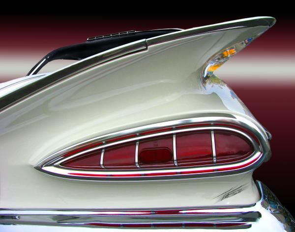 1959 Chevrolet Impala Tail Print by Peter Piatt