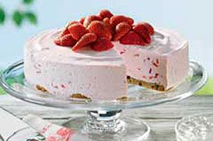 Strawberry Freeze recipe -       Fresh berries in and on whipped, chilled cream cheese would have been enough. But no. We're upping the ante with a chocolate chip cookie crust. Pure heaven.