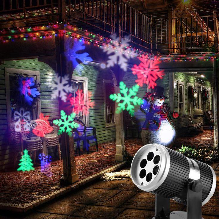 LED Projector Light RGB Wall Lamp Image Projection Lights with 4 Gobo Slides for Xmas Birthday New Year Halloween Party Holiday Indoor Use