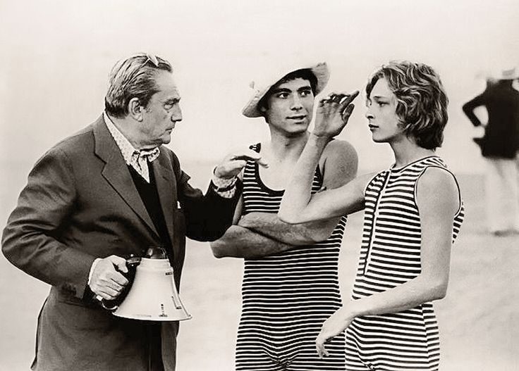 "loverofbeauty:  Luchino Visconti directing ""Death in Venice"