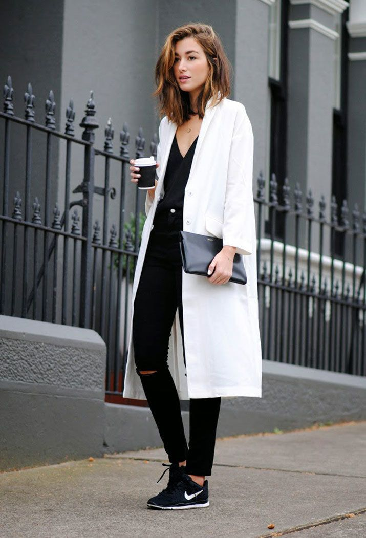 abrigo nike mujer blanco