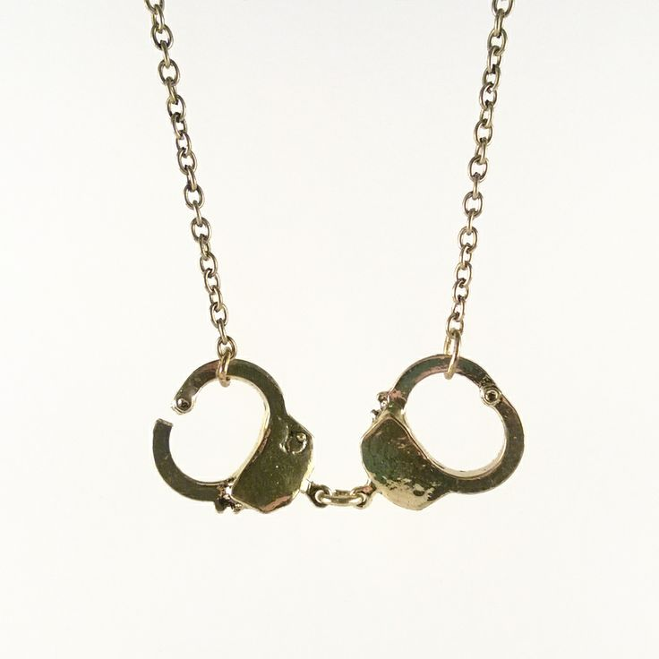 Mint Mouse - 50 Shades Necklace.  Rebel against the norm with this mischievous handcuff necklace. Go a little 50 shades of grey on us.