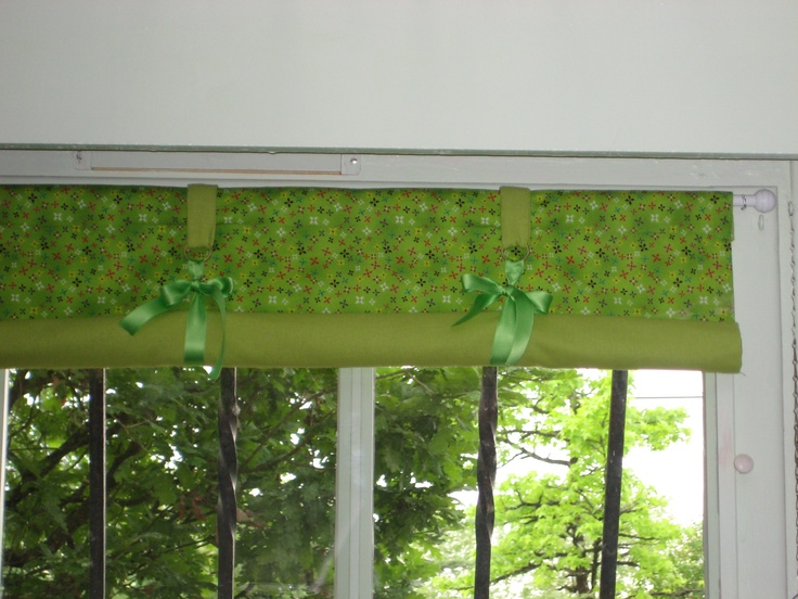 Tiny windows in sous-sol of house - what to do?  Make mini roller blinds of course!