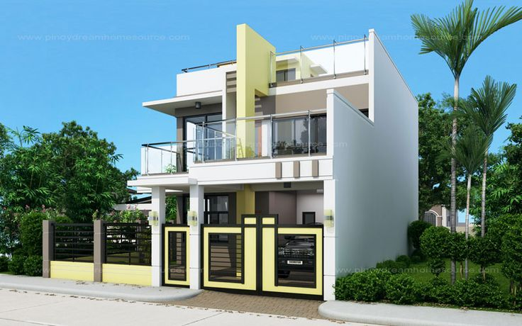 Prosperito is a single attached two story house design for 2 storey house design with roof deck