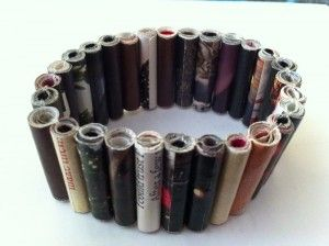 Magazine bead expandable bracelet project
