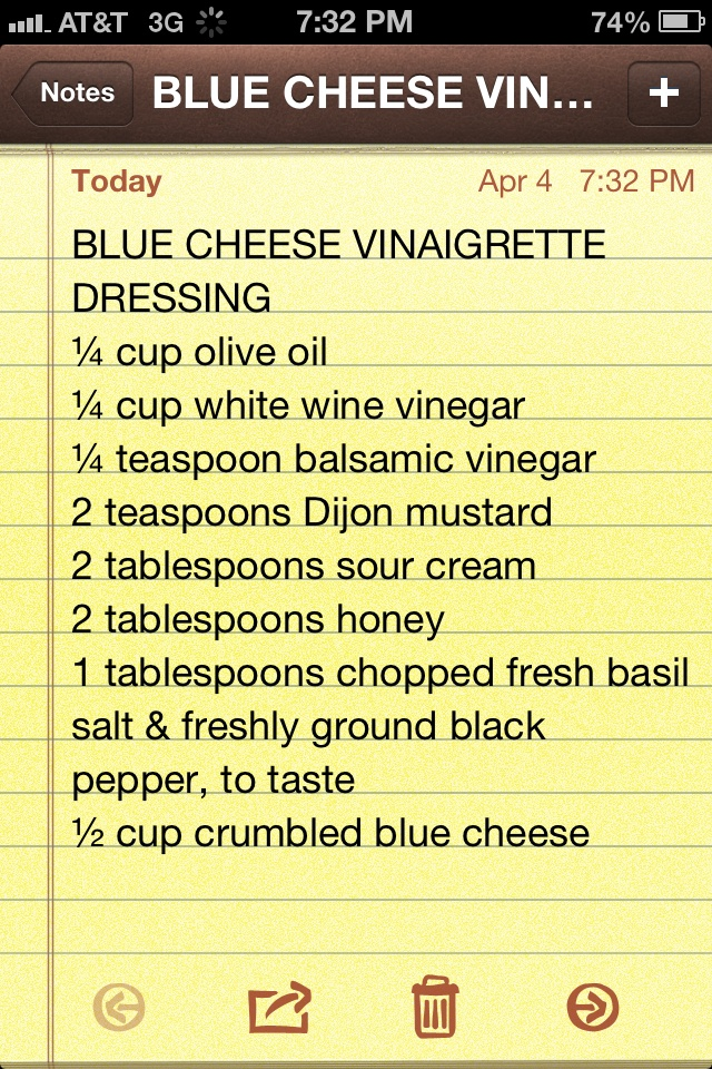 Crumble blue cheese dressing