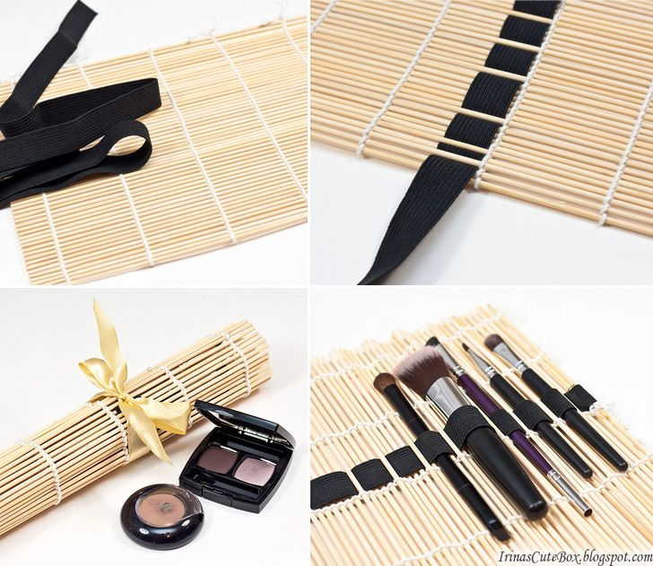 How to Make Sushi Mat Makeup Brushes Organizer - DIY & Crafts - Handimania