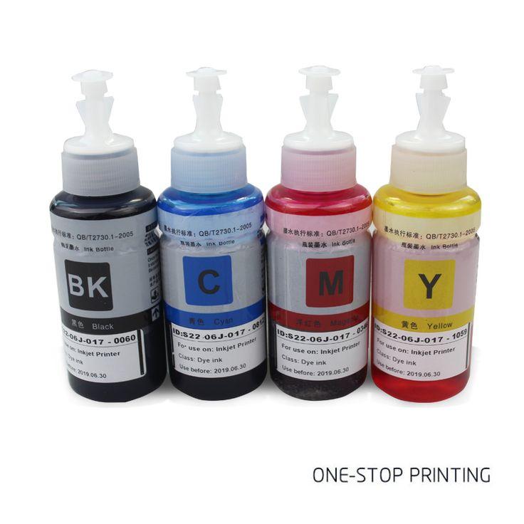 4X70ML Dye Ink For Epson Printer L100 L110 L120 L132 L210 L222 L300 L312 L355 L3…