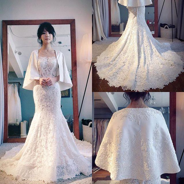 ポンチョ(ジャケット?)も作っていただいたよ  #結婚式準備#結婚式#結婚 #2016冬婚 #marry花嫁  #muse5cco #ごっこがーるず  #weddingdress #ウェディングドレス  #ポンチョ