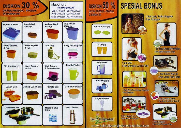 Promo Twin #Tulipware September - Oktober 2014 ~ Diskon 30% | Diskon 50% | Spesial Bonus