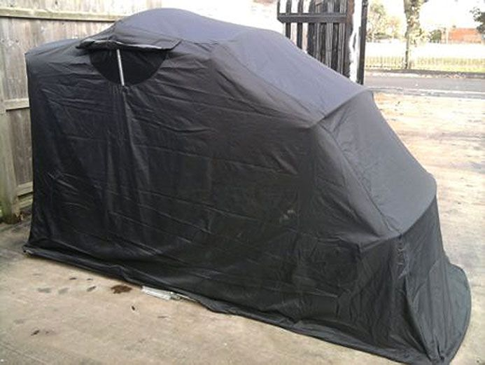 12 best motorcycle garage images on pinterest motorcycle - Motorcycle foldable garage tent cover ...