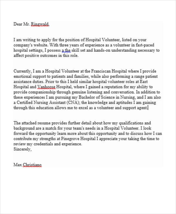 Cover Letter Template Volunteer Position Cover Coverlettertemplate Letter Position T Writing A Cover Letter Application Letters Letter Of Recommendation