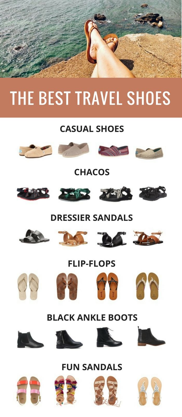 Packing Tips: Best Travel Shoes  I have tried and tested a variety of travel shoes over the last few years and have some stand out favorites. Nowadays, I alternate out the same brand of shoes as they wear down and often never even pick another color. Here are the best travel shoes to take on your next big trip!
