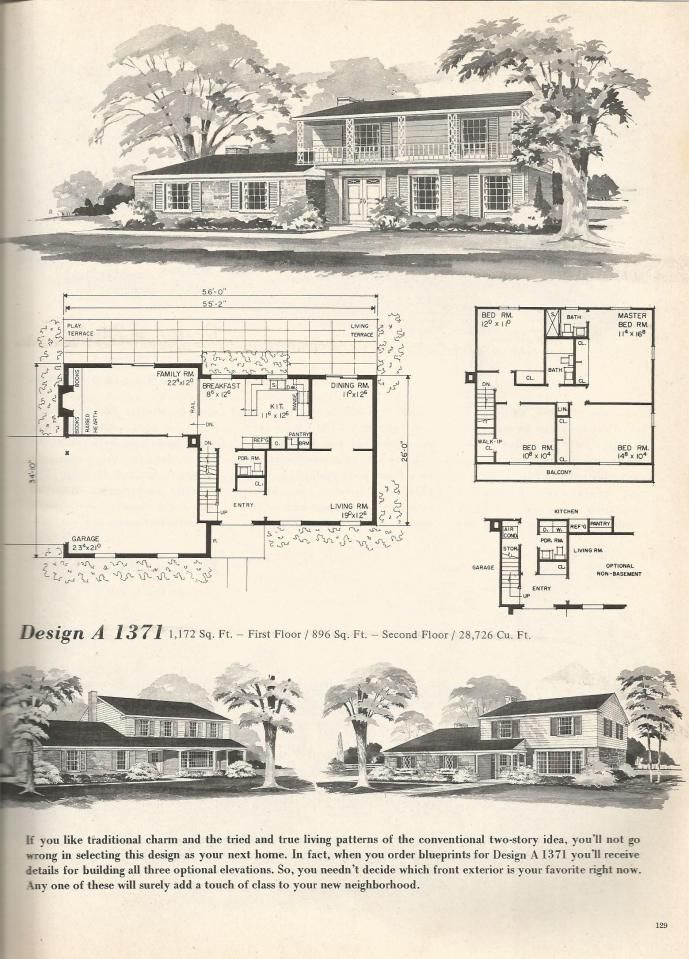 Vintage Farmhouse Plans 1945 best house plans images on pinterest | vintage houses, house
