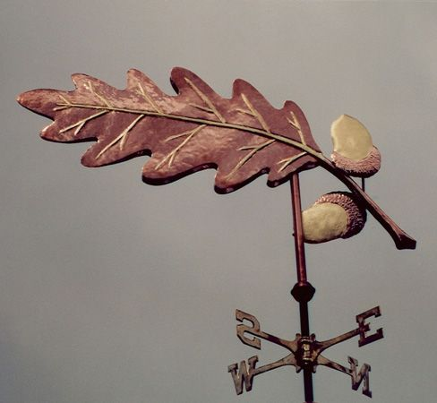 Oak Leaf Weathervane Oak - Copper & Brass