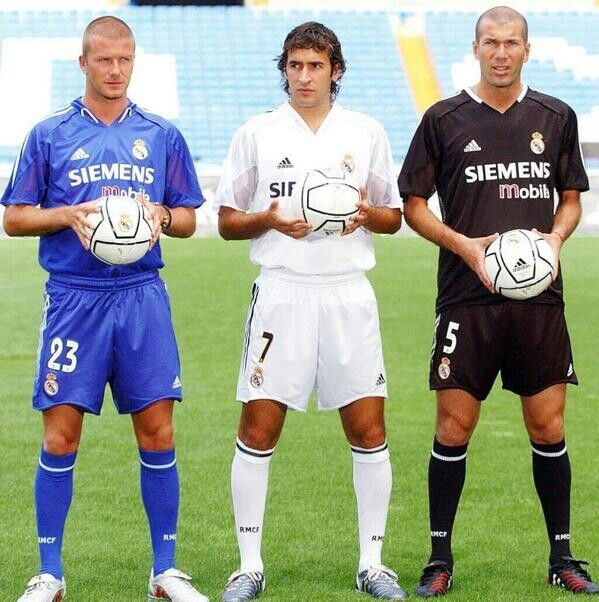 The galacticos  Beckham, Raúl and Zidane :)