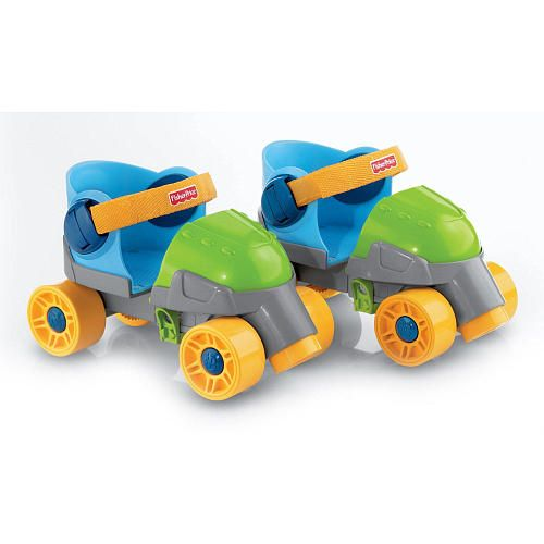 "Fisher-Price Grow with Me Boy's Quad Roller Skates - Fisher-Price - Toys ""R"" Us"